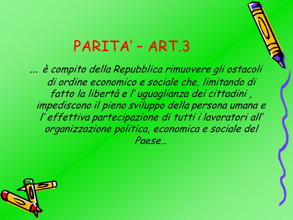 PARITA' – ART.3