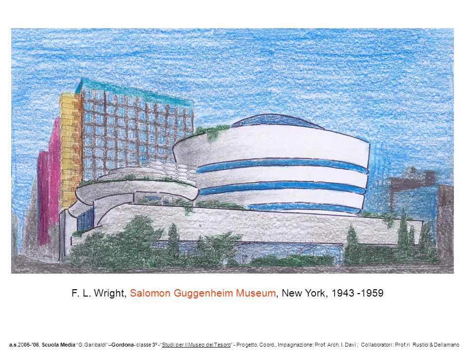F. L. Wright, Salomon Guggenheim Museum, New York,