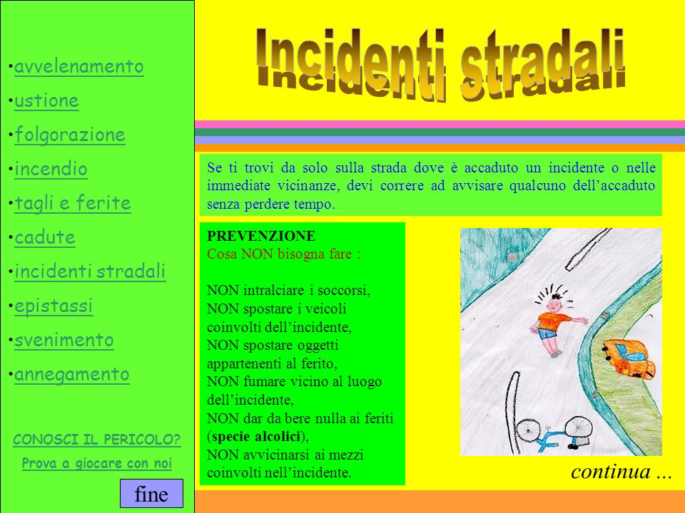 Incidenti stradali continua ...