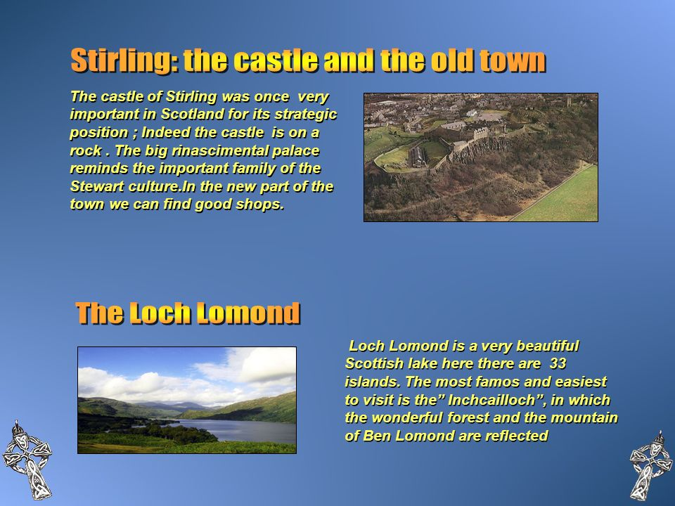 Stirling: the castle and the old town