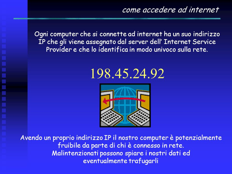 come accedere ad internet