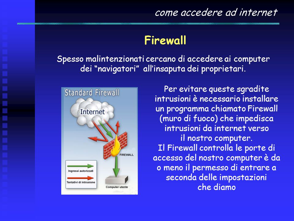 Firewall come accedere ad internet