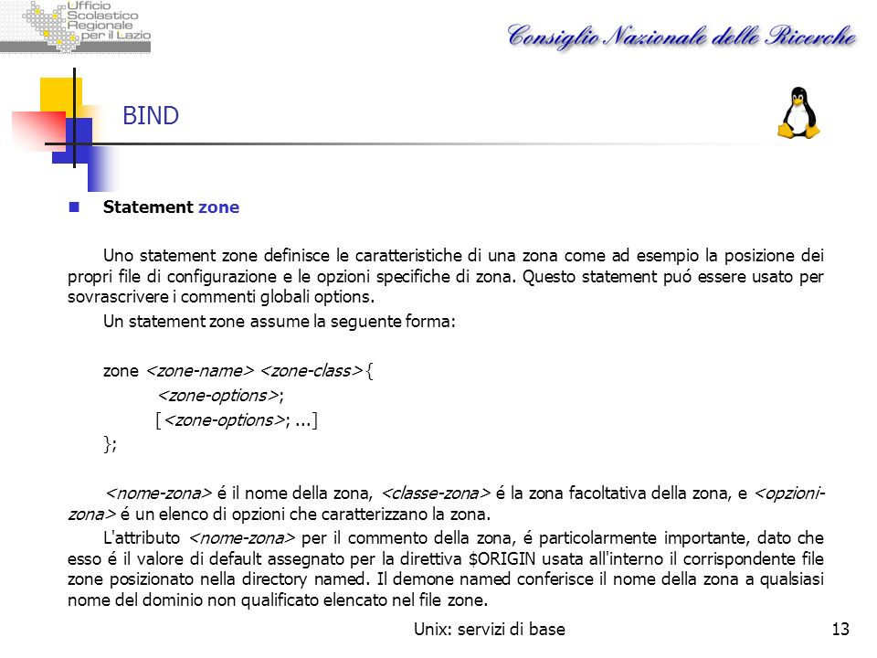 BIND Statement zone.