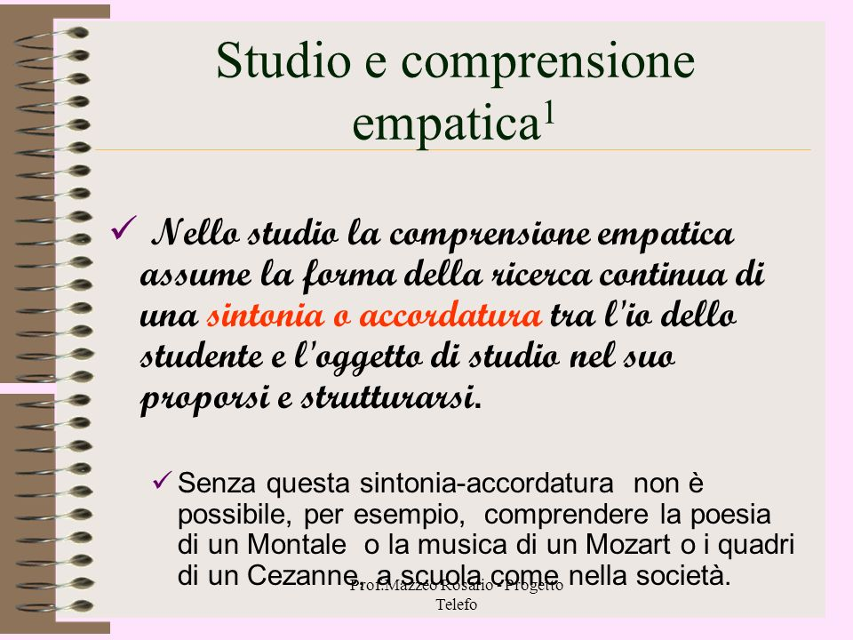 Studio e comprensione empatica1