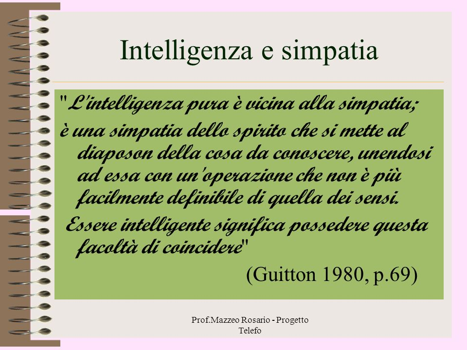 Intelligenza e simpatia