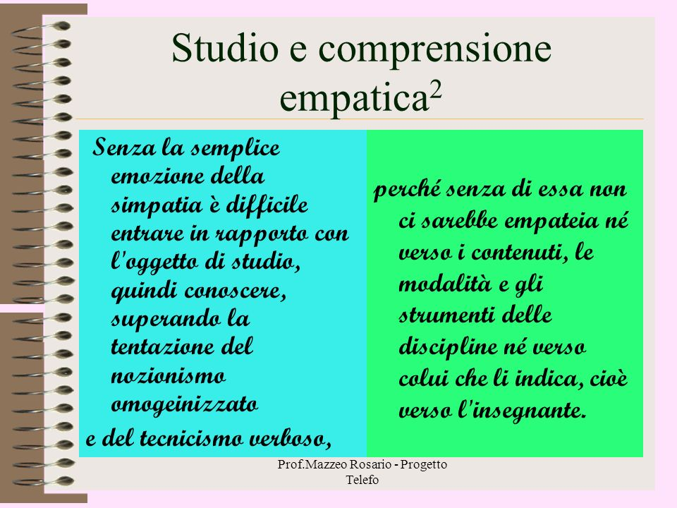 Studio e comprensione empatica2