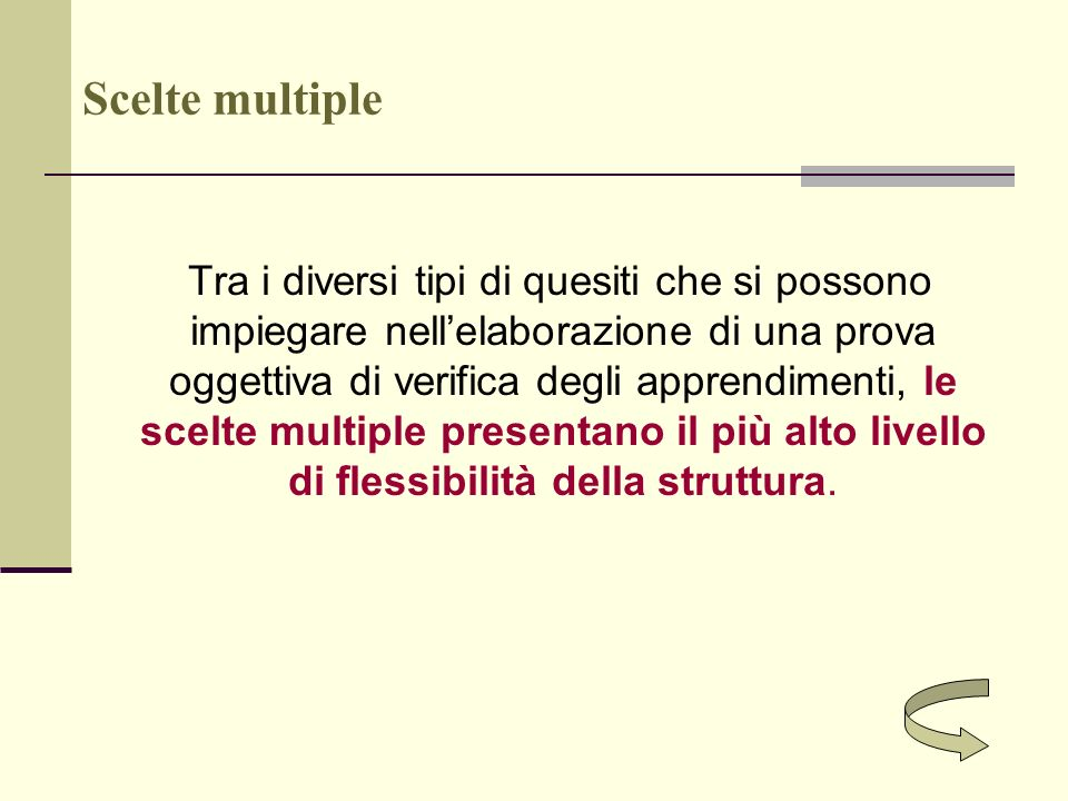 Scelte multiple
