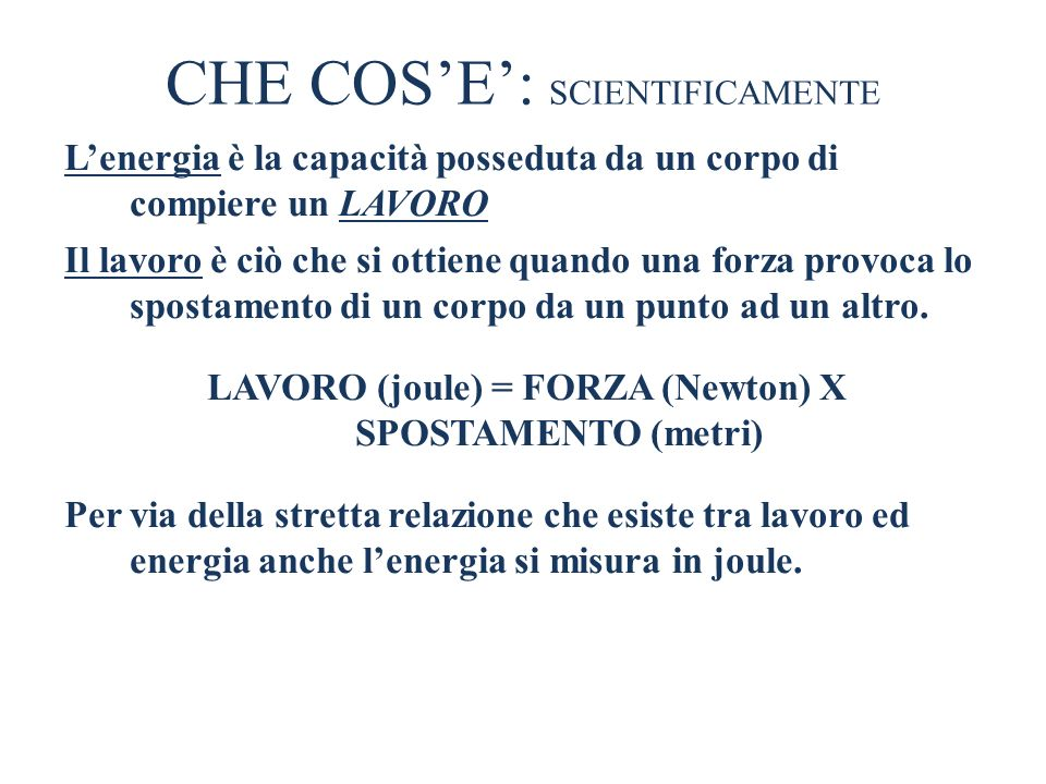 CHE COS'E': SCIENTIFICAMENTE