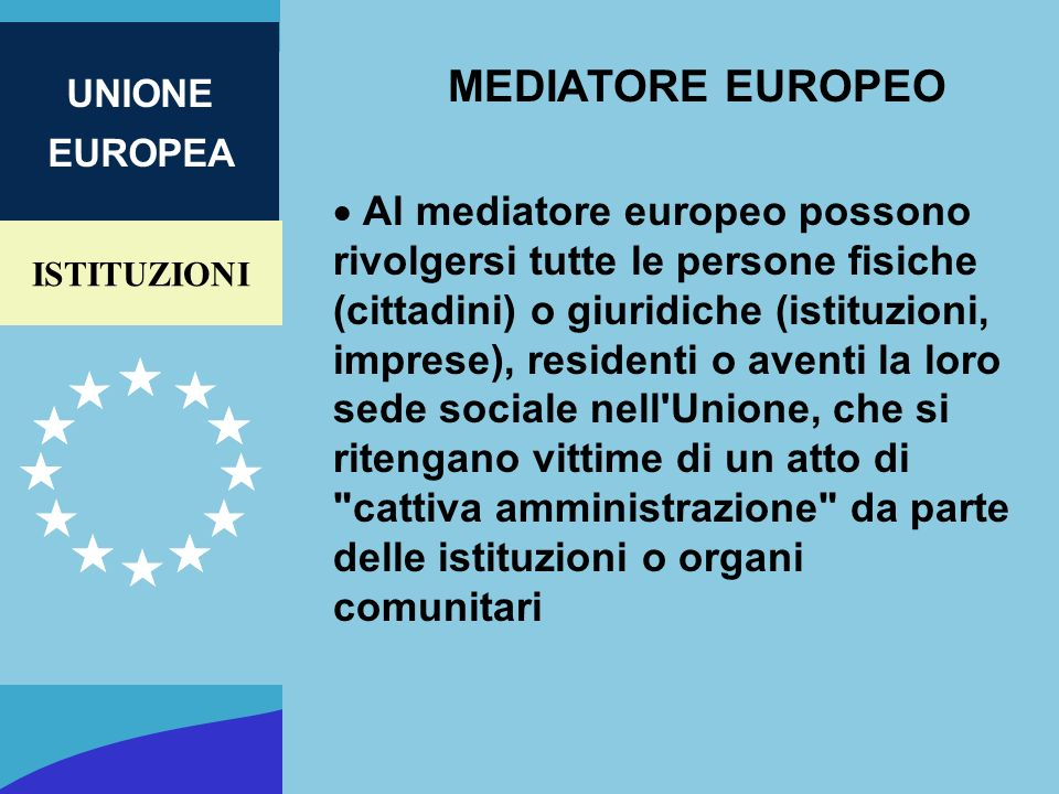 MEDIATORE EUROPEO