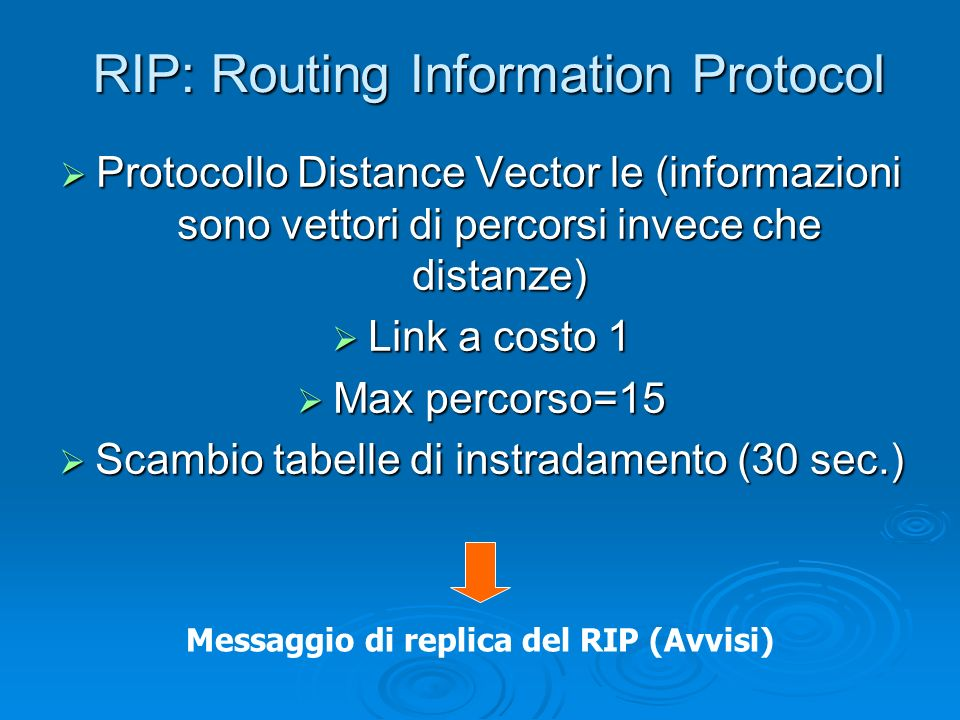 RIP: Routing Information Protocol