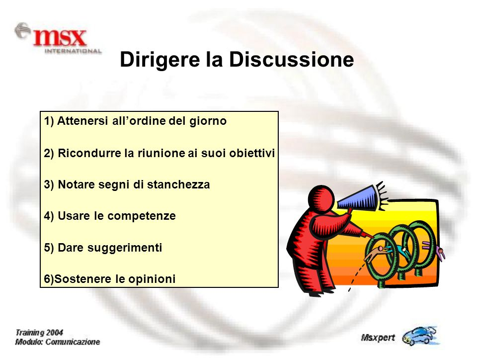 Dirigere la Discussione