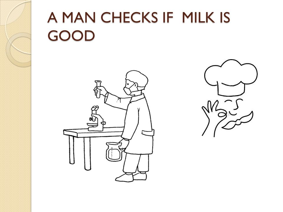 A MAN CHECKS IF MILK IS GOOD