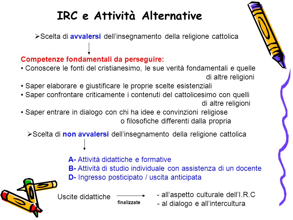 IRC e Attività Alternative