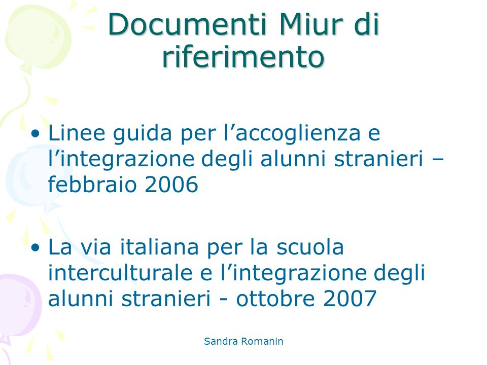 Documenti Miur di riferimento