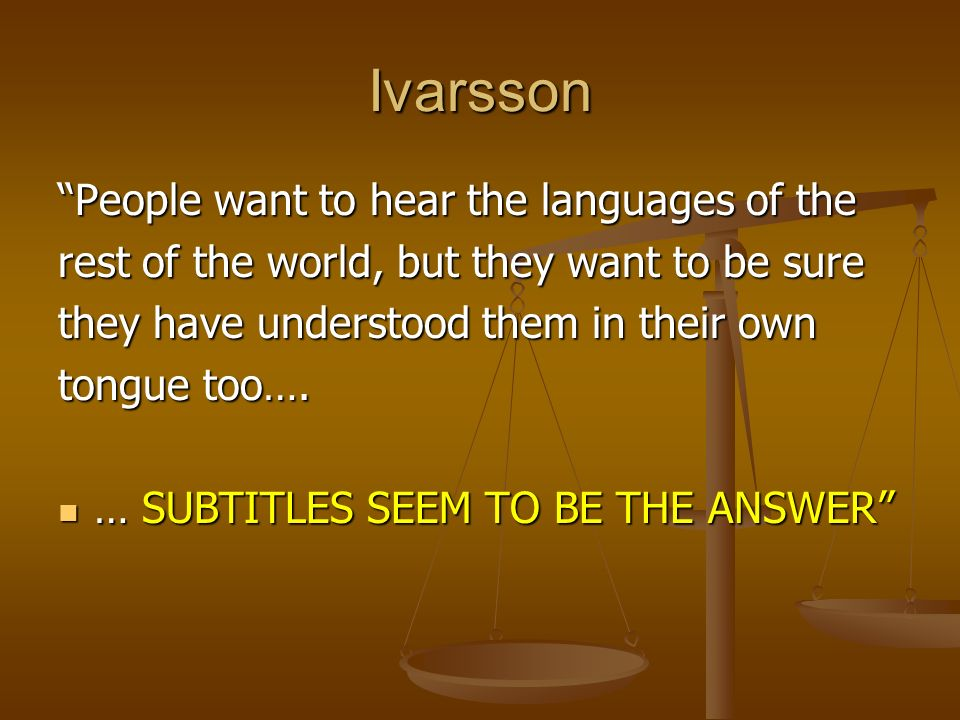 Ivarsson People want to hear the languages of the