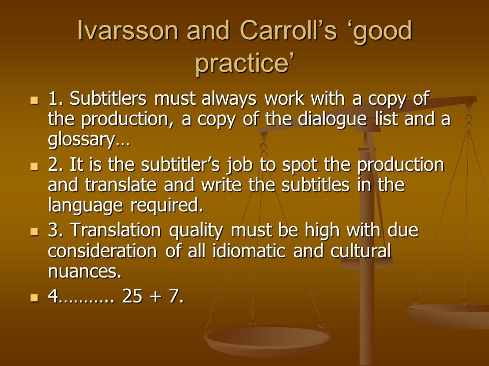Ivarsson and Carroll's 'good practice'