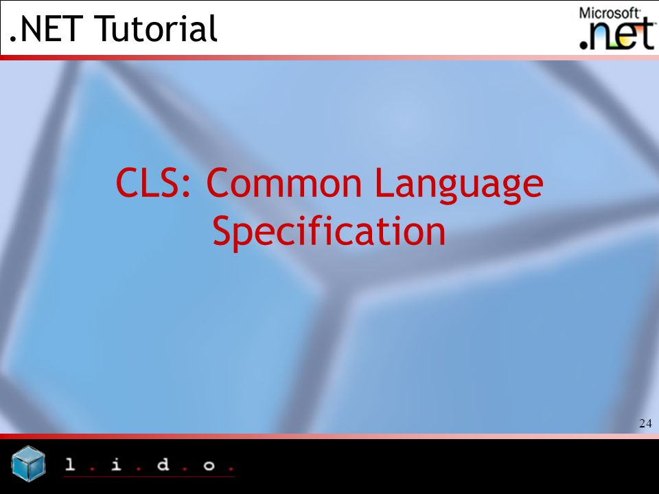 CLS: Common Language Specification