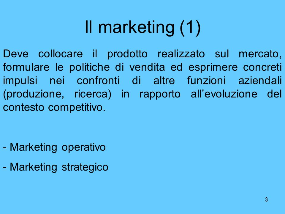 Il marketing (1)