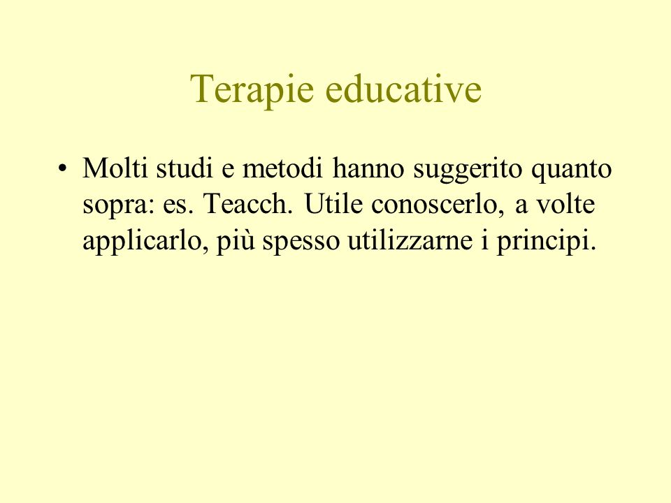 Terapie educative