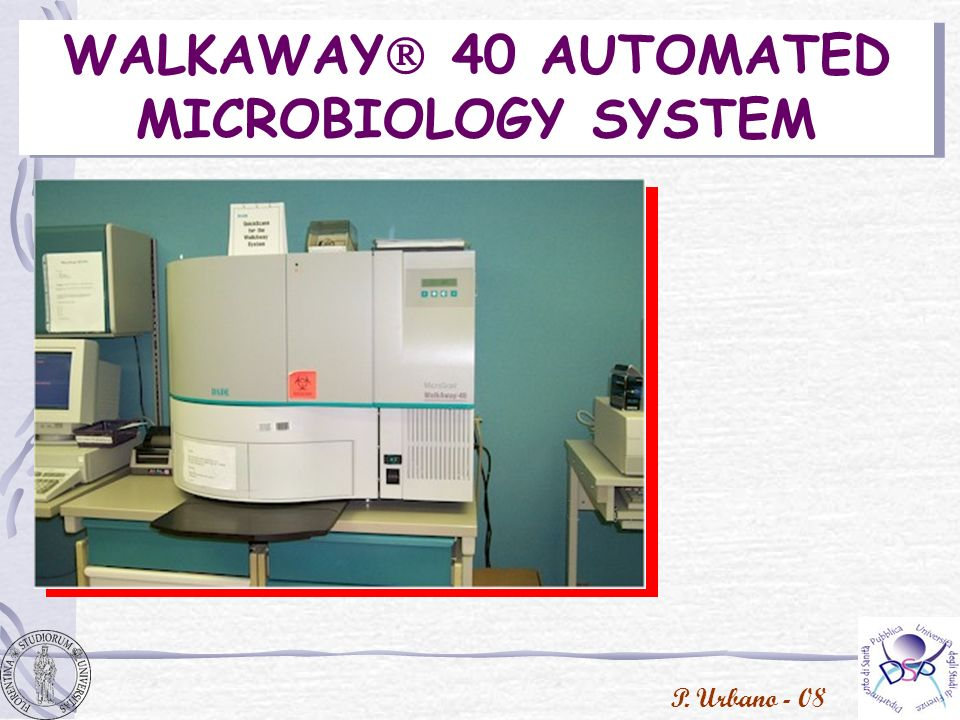 WALKAWAY 40 AUTOMATED MICROBIOLOGY SYSTEM