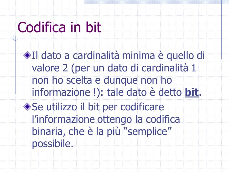 Codifica in bit