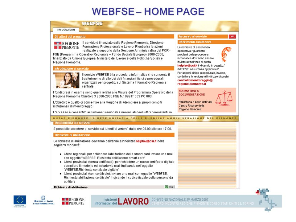 WEBFSE – HOME PAGE