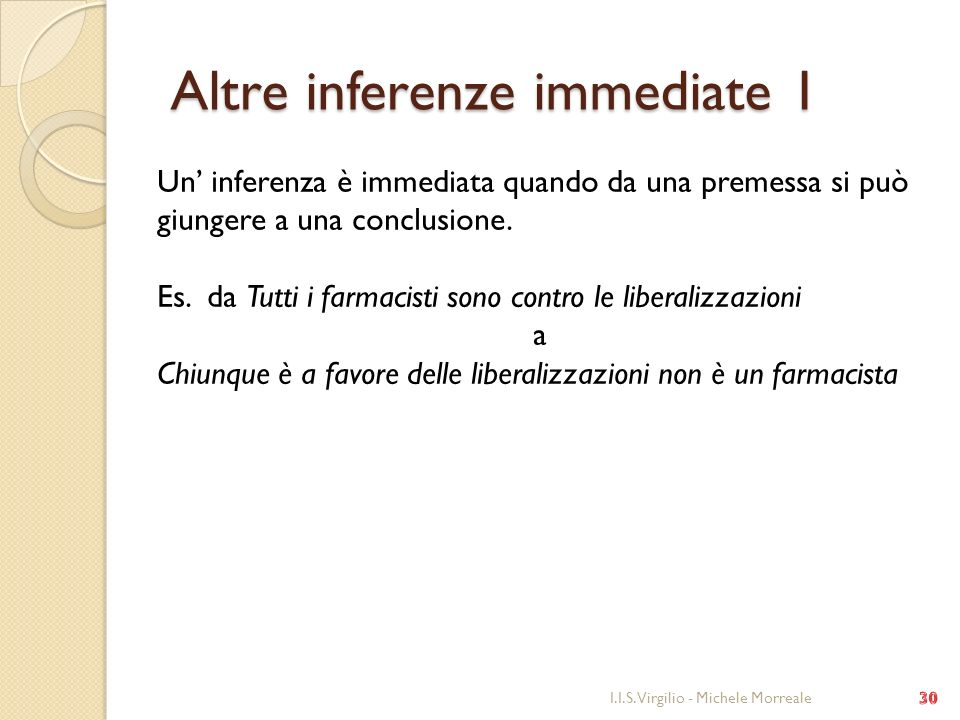Altre inferenze immediate 1