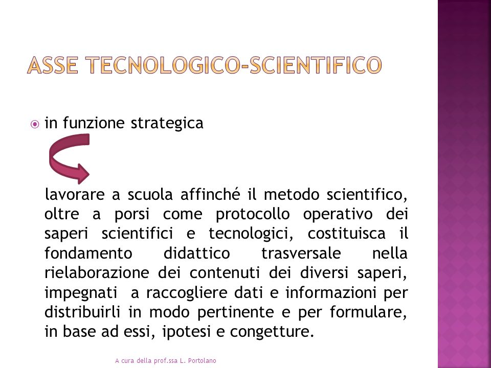 Asse tecnologico-scientifico