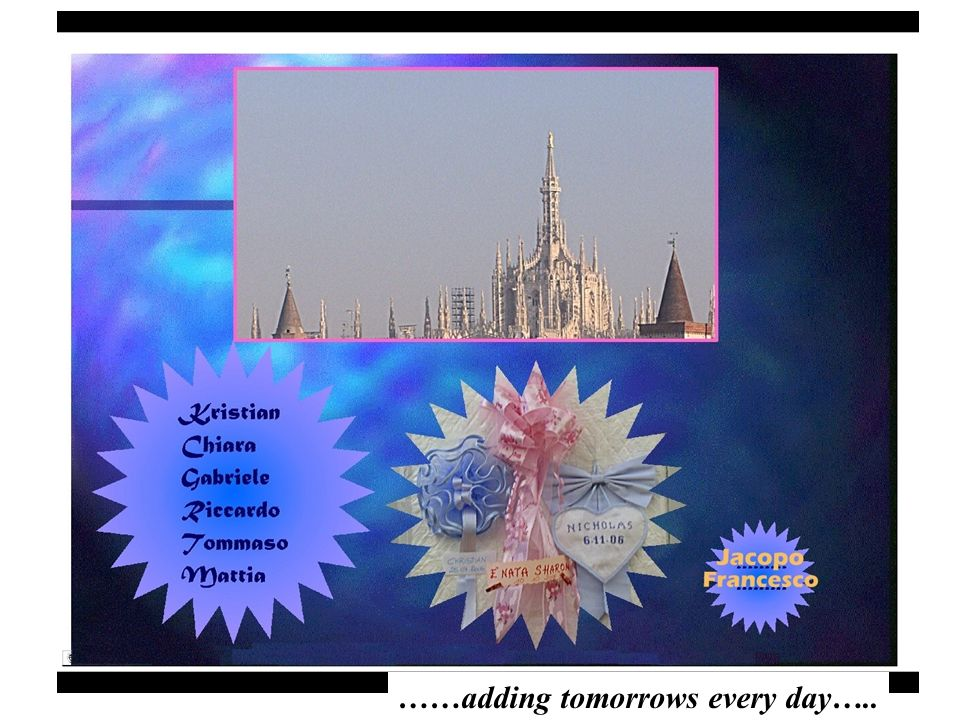 ……adding tomorrows every day…..