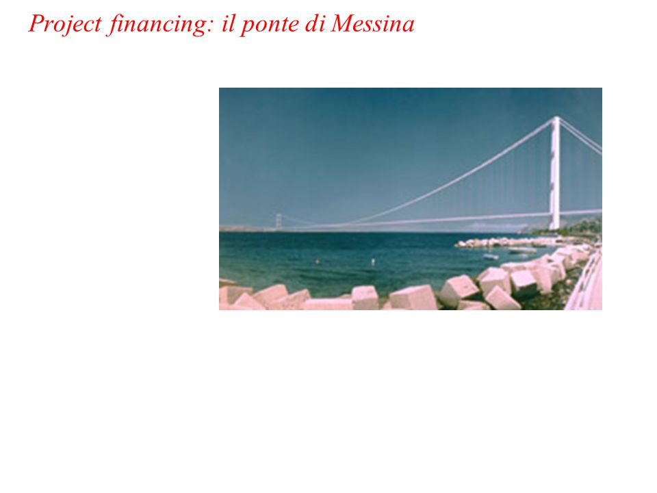 Project financing: il ponte di Messina