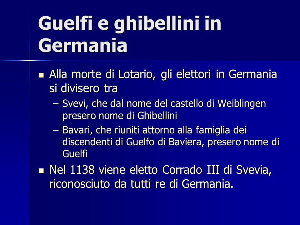 Guelfi e ghibellini in Germania