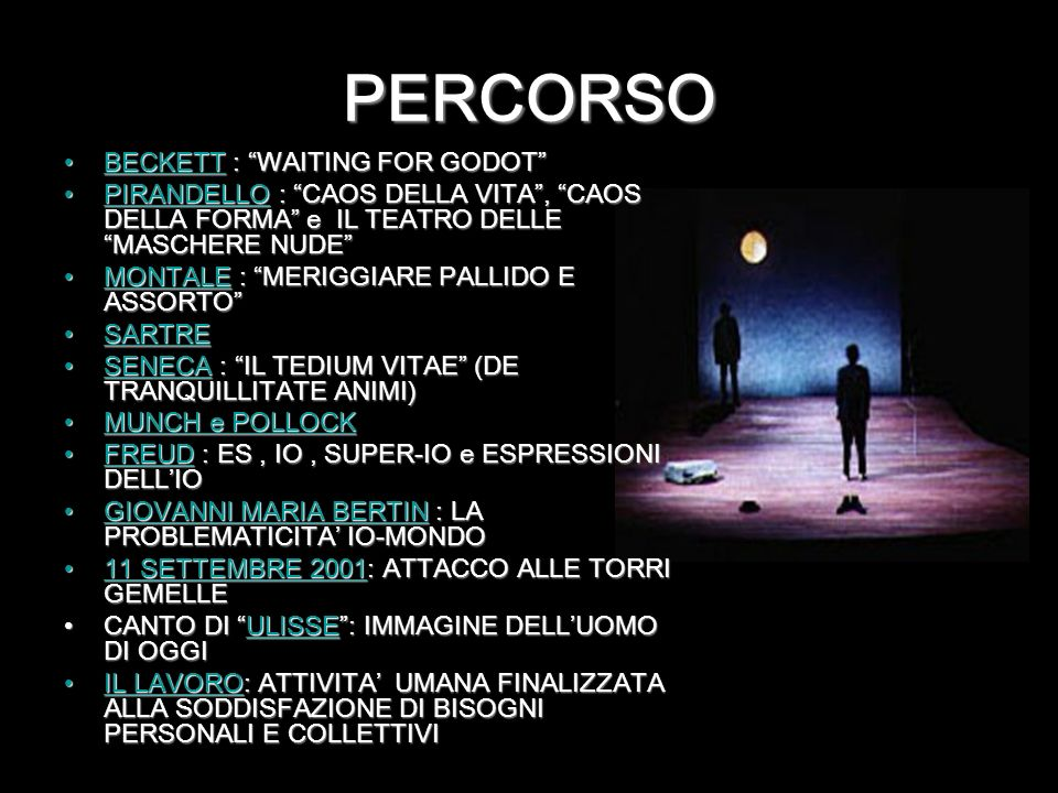 PERCORSO BECKETT : WAITING FOR GODOT