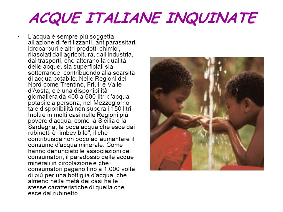 ACQUE ITALIANE INQUINATE