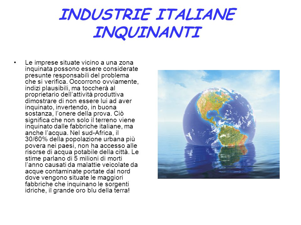 INDUSTRIE ITALIANE INQUINANTI