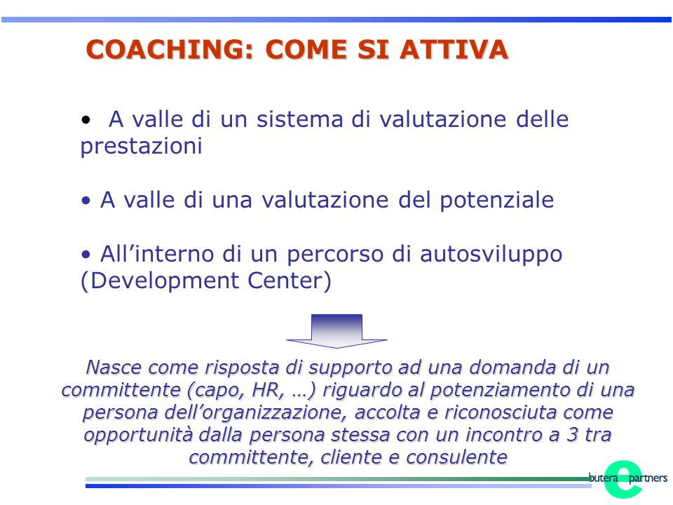 COACHING: COME SI ATTIVA