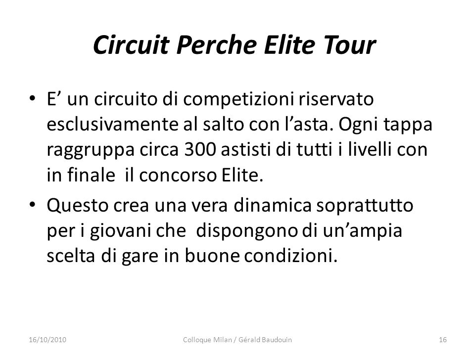 Circuit Perche Elite Tour