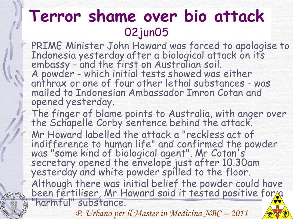 Terror shame over bio attack 02jun05