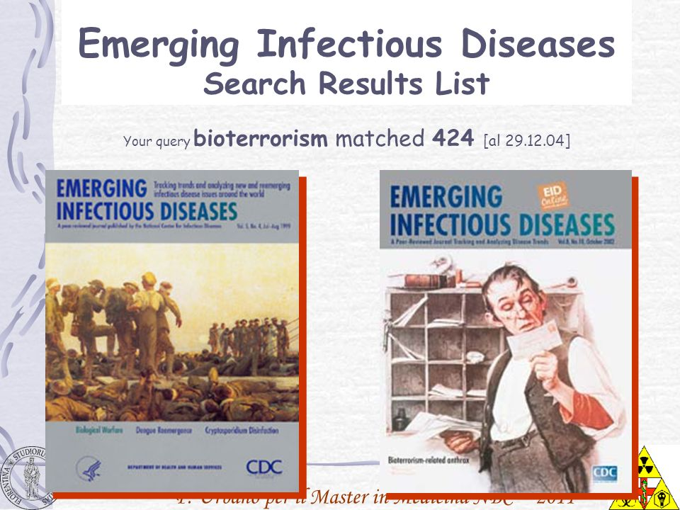 Emerging Infectious Diseases Search Results List