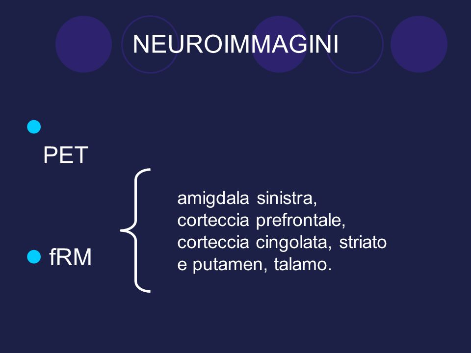 NEUROIMMAGINI PET. fRM.