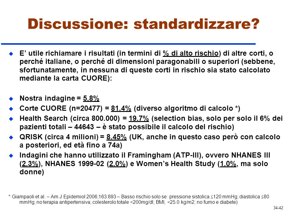 Discussione: standardizzare