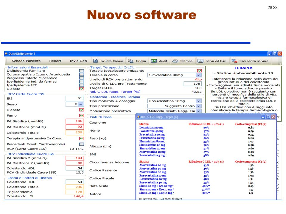 20-22 Nuovo software