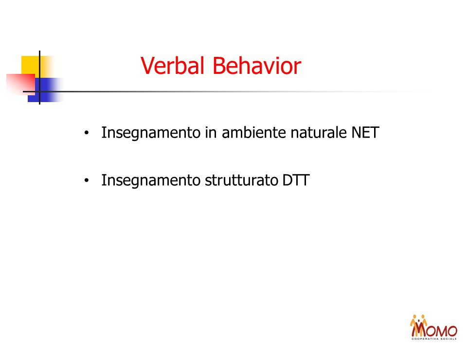 Verbal Behavior Insegnamento in ambiente naturale NET