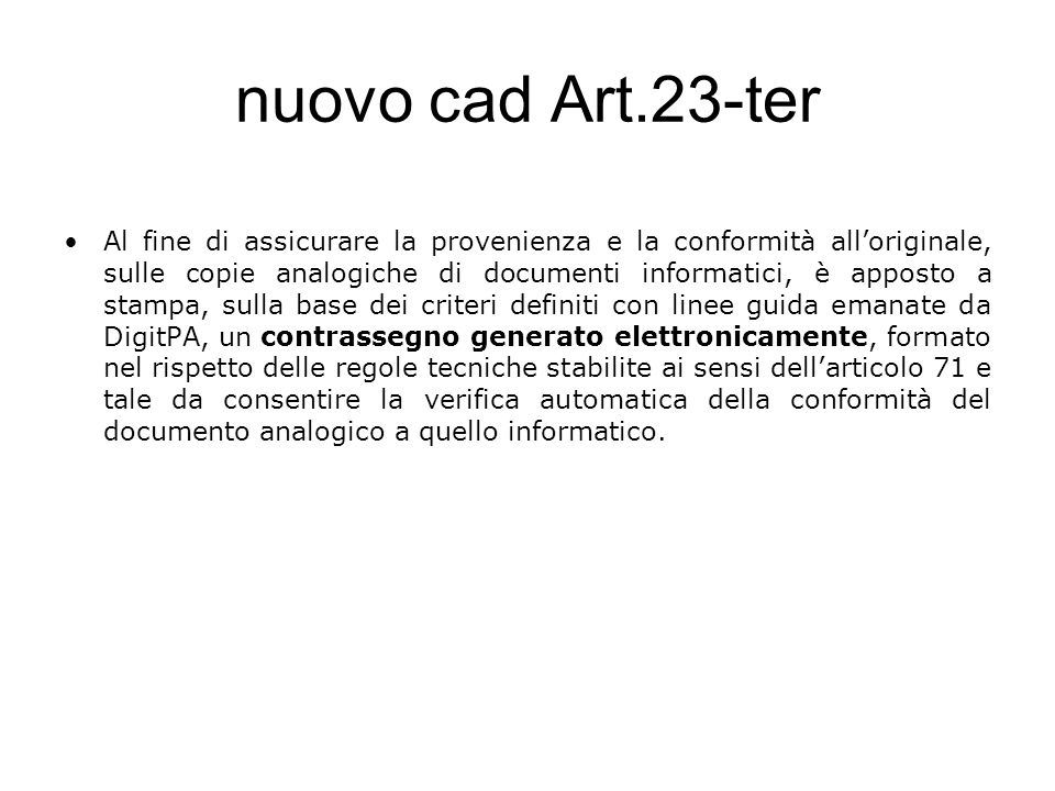nuovo cad Art.23-ter