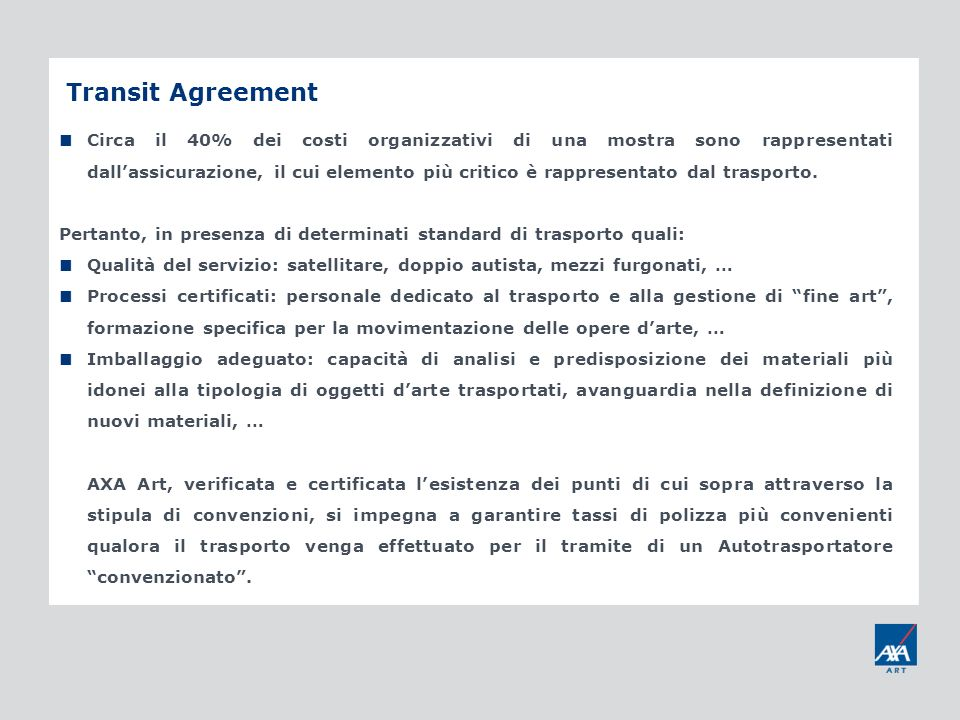 Transit Agreement