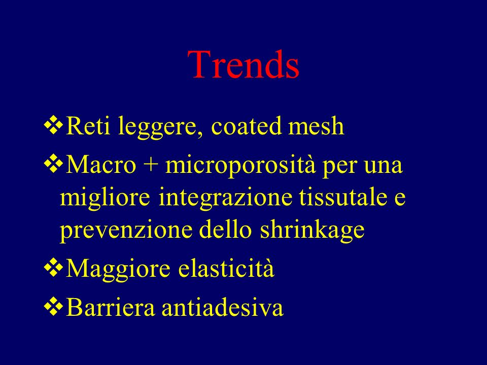 Trends Reti leggere, coated mesh