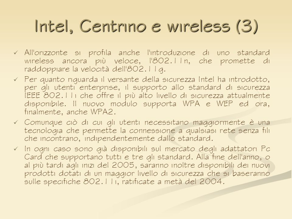 Intel, Centrino e wireless (3)