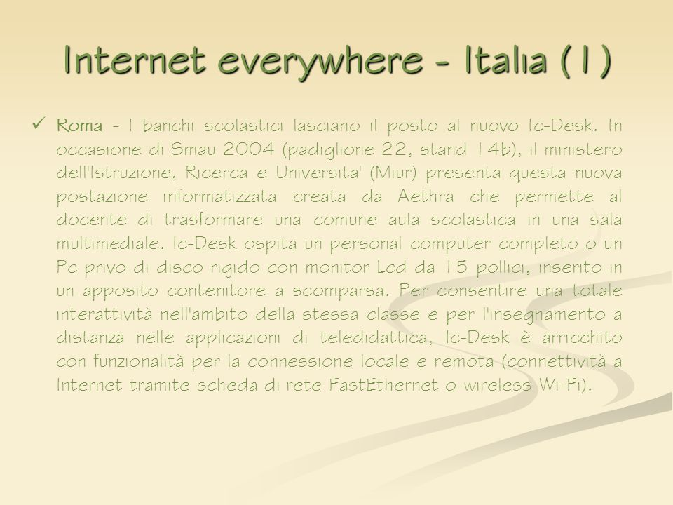 Internet everywhere - Italia (1)