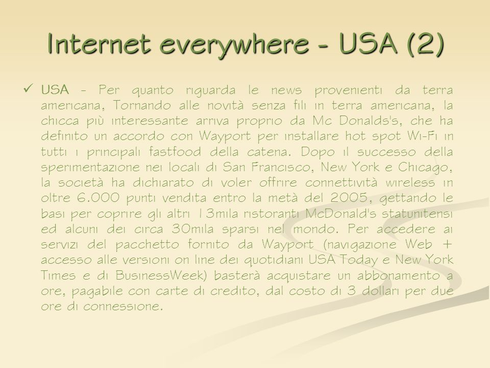 Internet everywhere - USA (2)