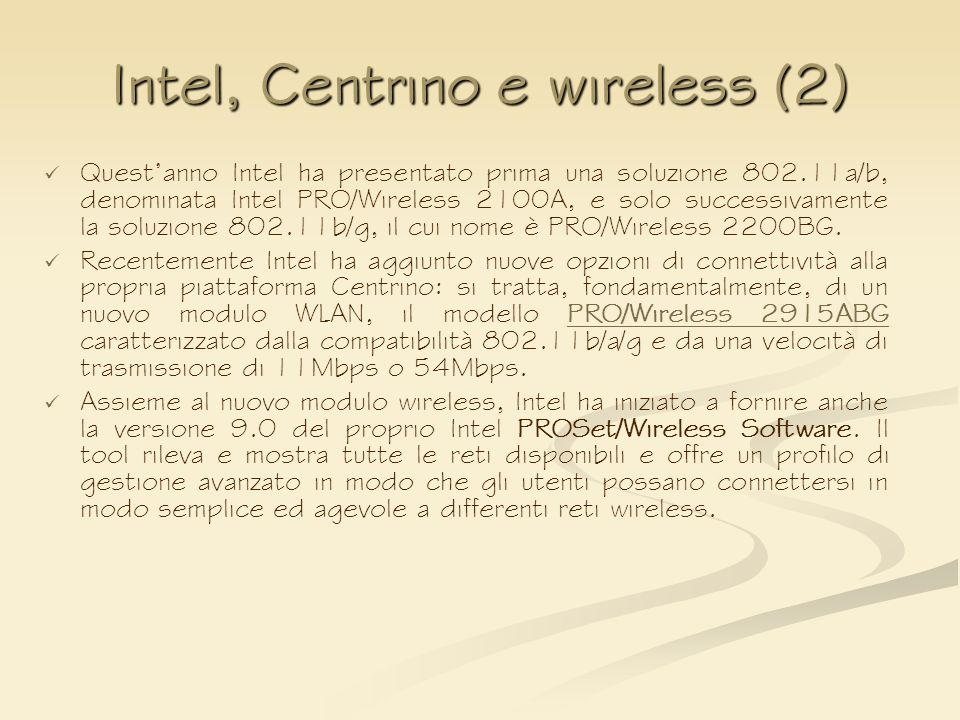 Intel, Centrino e wireless (2)