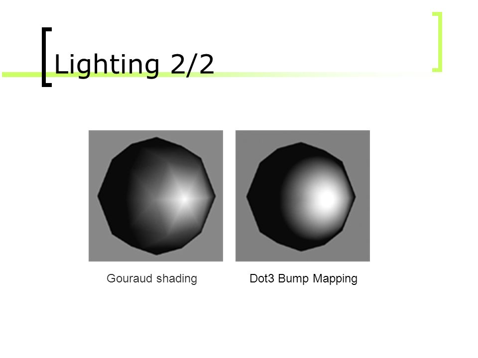 Lighting 2/2 Gouraud shading Dot3 Bump Mapping